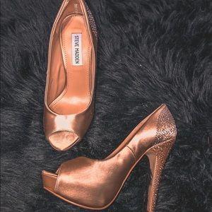 Gold Steve Madden Rhinestone Heels